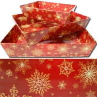 Red & Gold Snowflakes Range