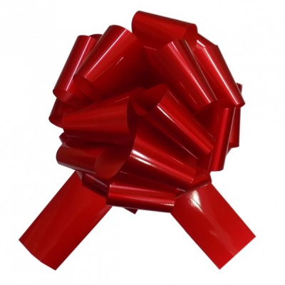GIANT Car Bow (30cm diameter) with 3m Ribbon - GLOSSY RED