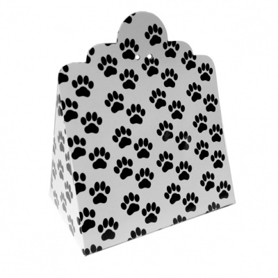 Triangle Gift Box (pk 10 Large) - PAW PRINTS