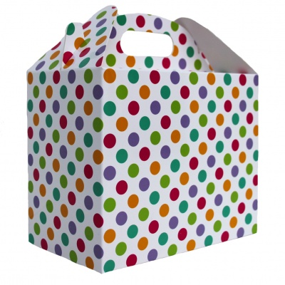 Pack of 10 GABLE BOXES 17x10x14cm - SPOTS