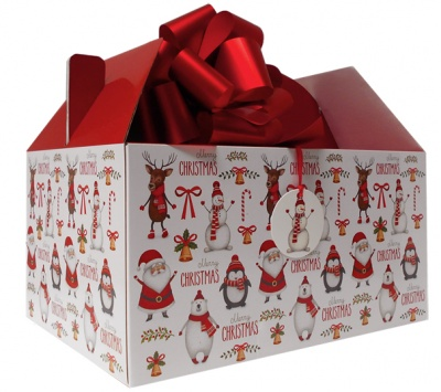 10 x Giant Gable Box GIFT KIT - (35x24x18cm) CHRISTMAS CHARACTERS