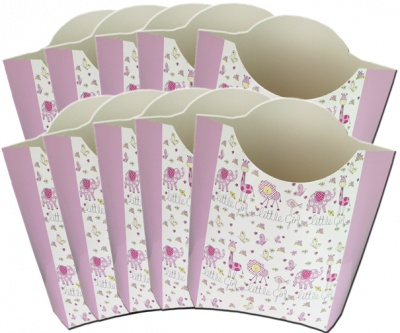 Pack of 10 POP-UP BOXES 26x15x27cm - LITTLE GIRL