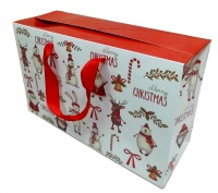 FLAT TOP GIFT BAGS (pack of 10) - medium CHRISTMAS CHARACTERS