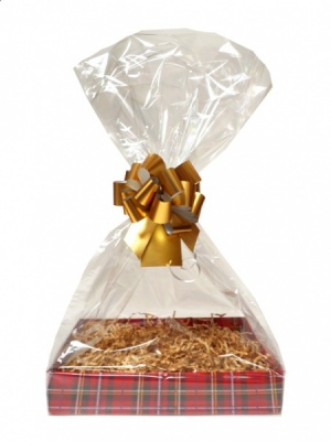 Complete Gift Basket Kit - (Small) TARTAN EASY FOLD TRAY/GOLD ACCESSORIES