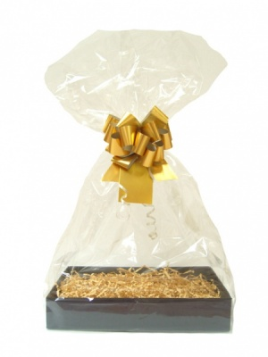 BULK Gift Basket Kit - (Small) BLACK EASY FOLD TRAY / GOLD ACCESSORIES x10
