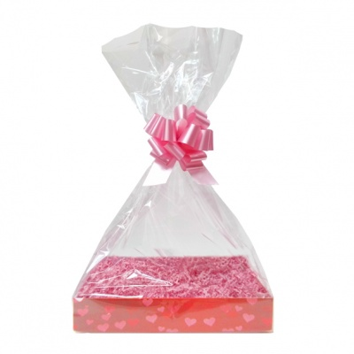 Complete Gift Basket Kit - (Small) HEARTS EASY FOLD TRAY/PINK ACCESSORIES