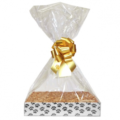 Complete Gift Basket Kit - (Small) PAW PRINTS EASY FOLD TRAY/GOLD ACCESSORIES