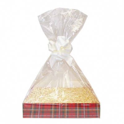 Complete Gift Basket Kit - (Medium) TARTAN EASY FOLD TRAY / CREAM ACCESSORIES