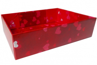 Easy Fold Gift Tray (35x24x8cm) - Large HEARTS