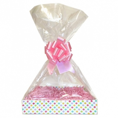 Complete Gift Basket Kit - (Small) SPOTTY EASY FOLD TRAY/PINK ACCESSORIES