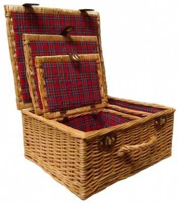 Premium NATURAL Hampers - SET OF 3 - TARTAN