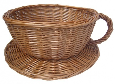 Wicker Cup and Saucer - 30cmx14cm - MEDIUM