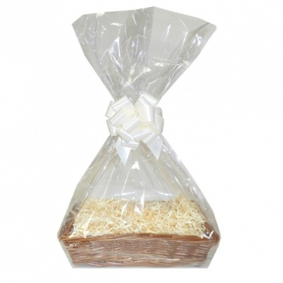 Complete Gift Basket Kit - (32x21x7cm) STEAMED WICKER TRAY / CREAM ACCESSORIES