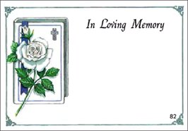 In Loving Memory GIFT CARD (pk of 50)