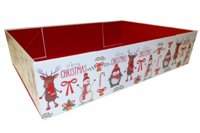 Easy Fold Gift Tray (30x20x6cm) - Medium CHRISTMAS CHARACTERS