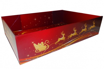 Easy Fold Gift Tray (20x15x5cm) - Small REINDEER