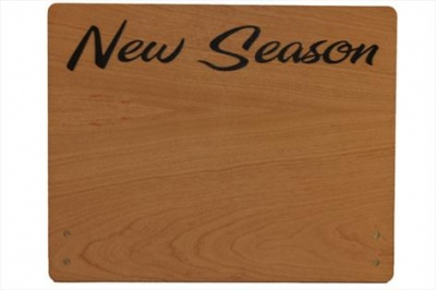 Large Cherry Wood Point of Sale Sign 250mm x 200mm - NEW SEASON