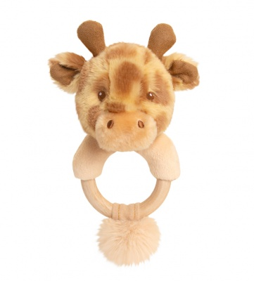 Eco Friendly RING RATTLE by Keel Toys - GIRAFFE