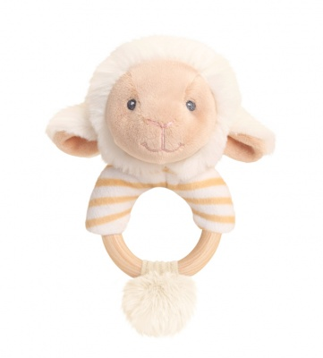 Eco Friendly RING RATTLE by Keel Toys - LAMB