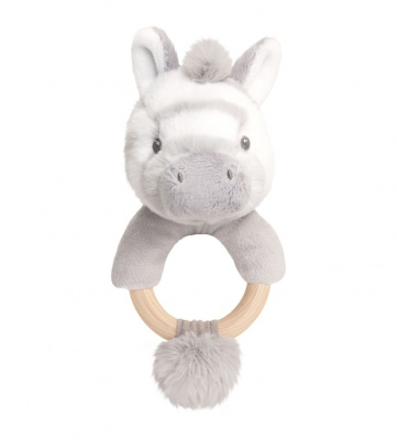 Eco Friendly RING RATTLE by Keel Toys - ZEBRA
