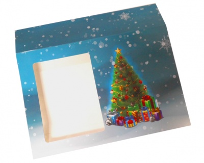 Sleeve with Window - 20x15x5cm (pk 10 Small) - CHRISTMAS TREE