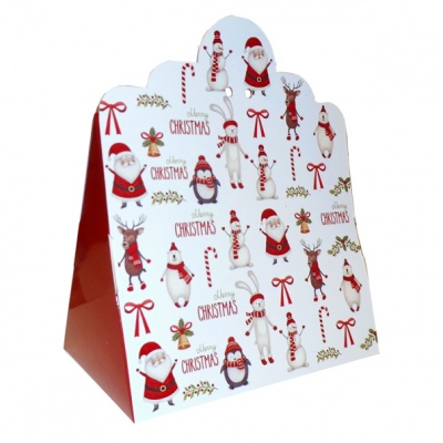 Triangle Gift Box (pk 10 Large) - CHRISTMAS CHARACTERS