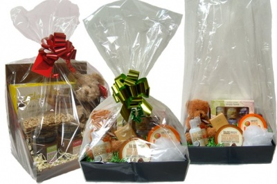 Cellophane Gusseted BASKET Bags - SAMPLE PACK