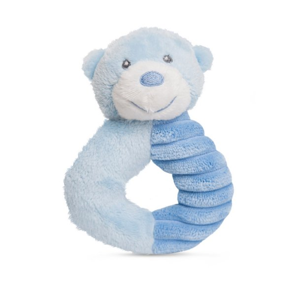 Bonnie Baby Bear RING RATTLE by Aurora - BLUE