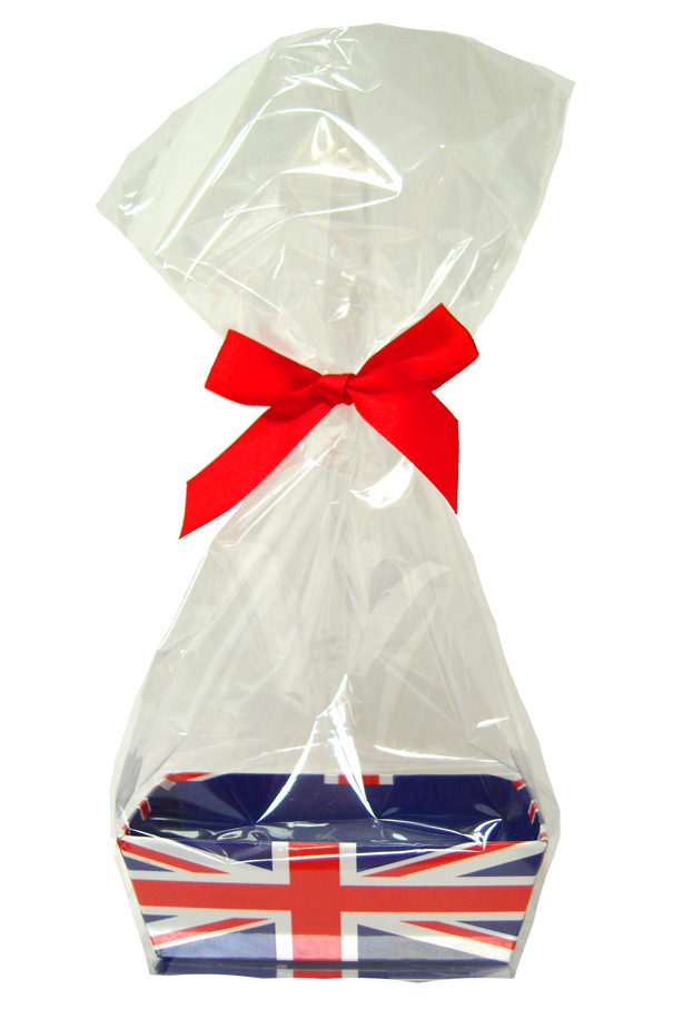 Printed MINI GIFT KITS with Cello Bag & Bow 12x8x4cm - UNION JACK/RED (x10)