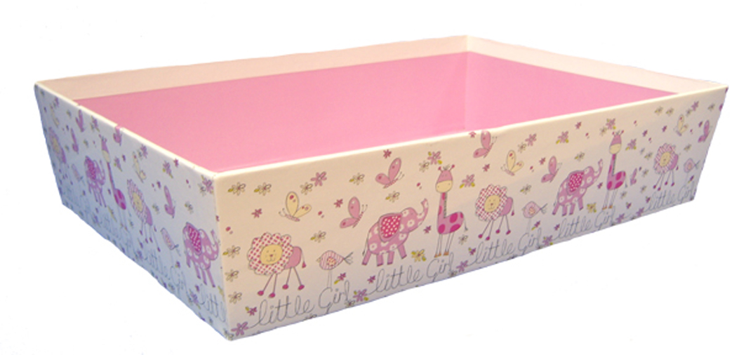 Printed GIFT HAMPER TRAY 30x20x6cm - (medium) LITTLE GIRL