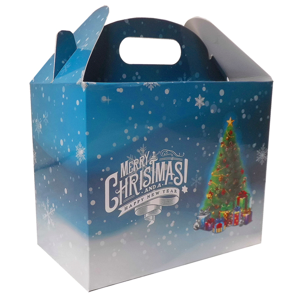 Pack of 10 GABLE BOXES 17x10x14cm - CHRISTMAS TREE