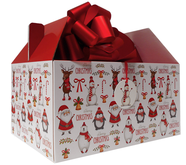 Giant Gable Box GIFT KIT - (35x24x18cm) CHRISTMAS CHARACTERS