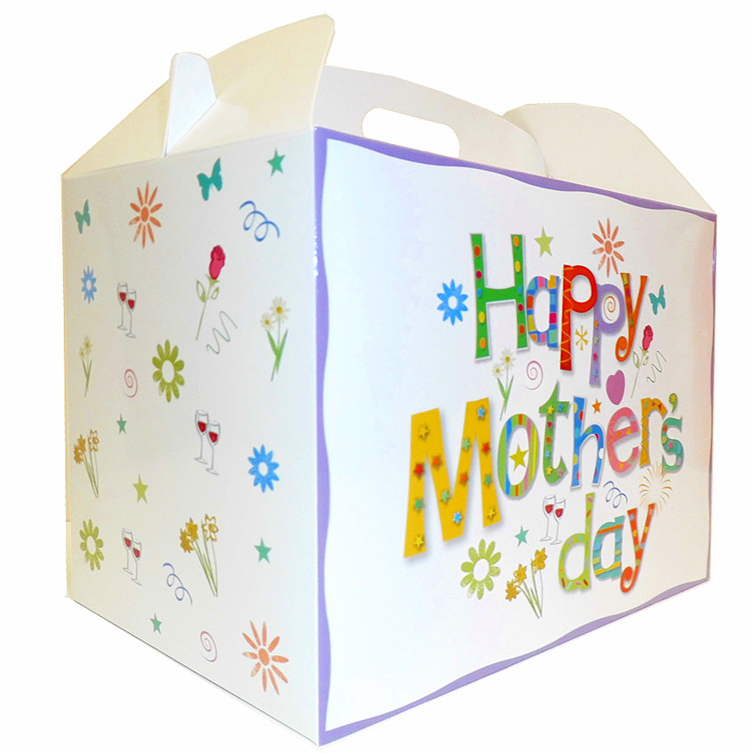 Gable Box - 24x18x16 (pk 10 Large) - MOTHER'S DAY WHITE