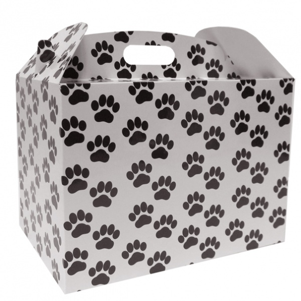Gable Box - 24x18x16 (pk 10 Large) - PAW PRINTS