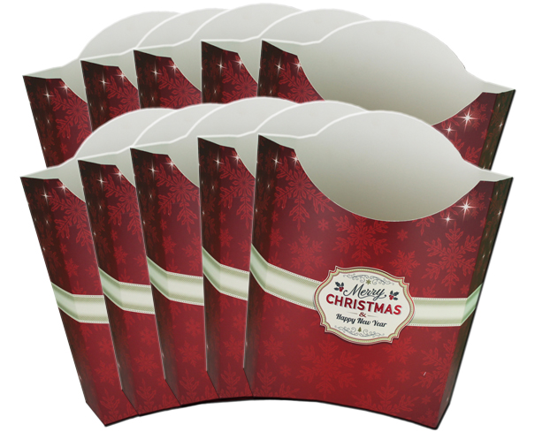 Pack of 10 POP-UP BOXES 26x15x27cm - MERRY CHRISTMAS
