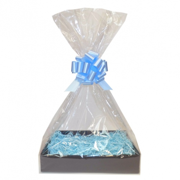 Complete Gift Basket Kit - (Small) BLACK EASY FOLD TRAY/BLUE ACCESSORIES