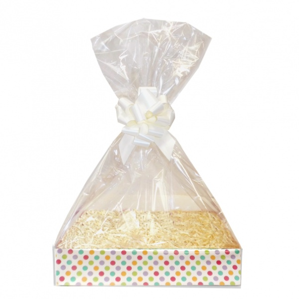 Complete Gift Basket Kit - (Small) SPOTTY EASY FOLD TRAY/CREAM ACCESSORIES
