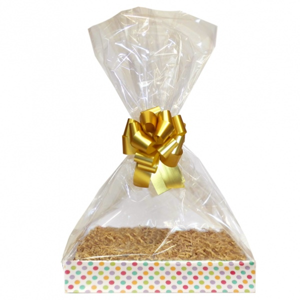 Complete Gift Basket Kit - (Small) SPOTTY EASY FOLD TRAY/GOLD ACCESSORIES