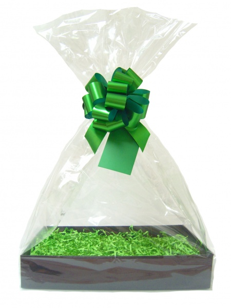 BULK Gift Basket Kit - (Medium) BLACK EASY FOLD TRAY / GREEN ACCESSORIES x10