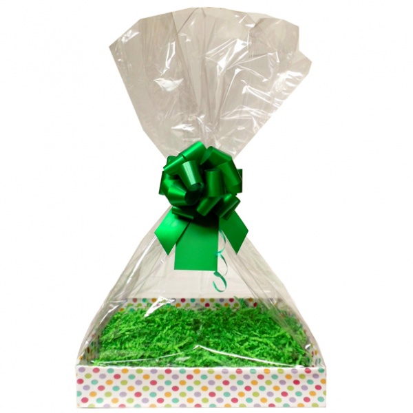 Complete Gift Basket Kit - (Medium) SPOTTY EASY FOLD TRAY / GREEN ACCESSORIES