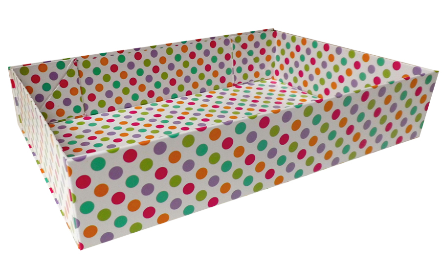 Easy Fold Gift Tray (35x24x8cm) - Large SPOTS