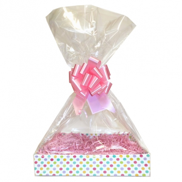 BULK Gift Basket Kit - (Small) SPOTTY EASY FOLD TRAY / PINK ACCESSORIES x10