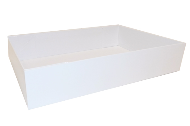 Easy Fold Gift Tray (35x24x8cm) - Large WHITE