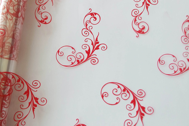 Cellophane Roll 80cm x 20m - RED SCROLL