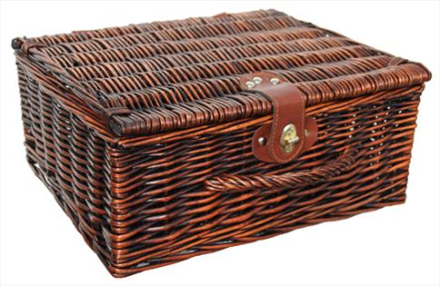 Premium VINTAGE BROWN Hamper (14'') 36x30x16cm - MEDIUM