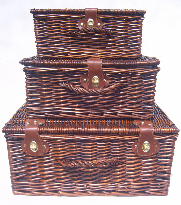 Premium VINTAGE BROWN Hampers - SET OF 3