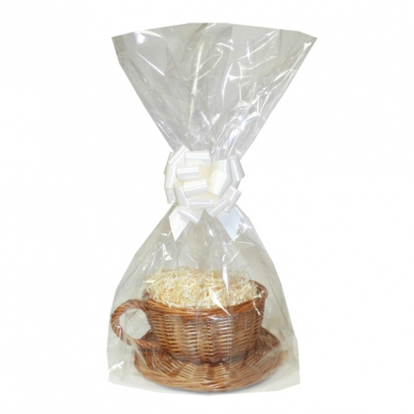 Gift Basket Kit - WICKER CUP & SAUCER / CREAM ACCESSORIES