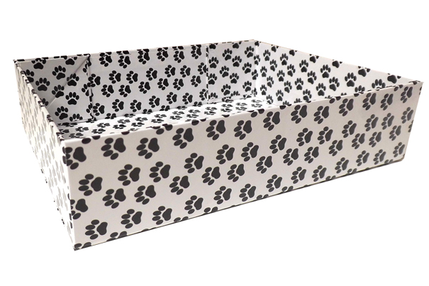 Easy Fold Gift Tray (20x15x5cm) - Small PAW PRINTS