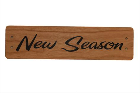 Small Cherry Wood Point of Sale Sign 250mm x 65mm - NEW SEASON
