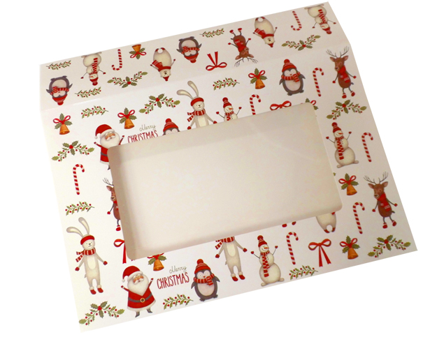 Sleeve with Window - 20x15x5cm (pk 10 Small) - CHRISTMAS CHARACTERS